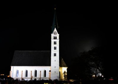 Pfarrkirche Prutz bei Nacht